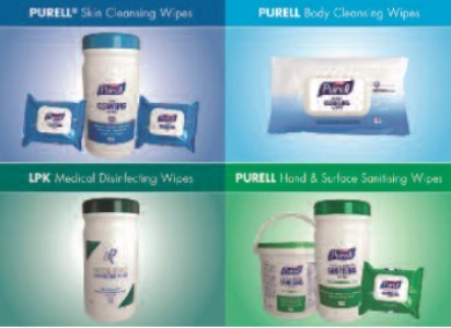 New range of healthcare wipes