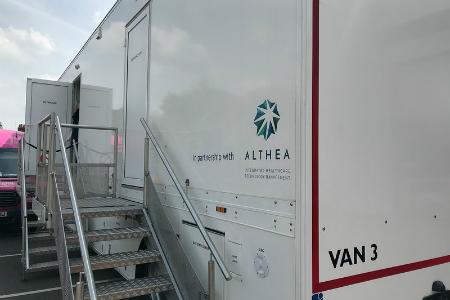 Breast screening trailer delivered in two months from order to clinical use