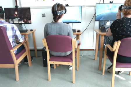 Virtual reality helps patients with visual vertigo