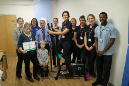 Caring colleagues gift new exercise machine to help patients stay active