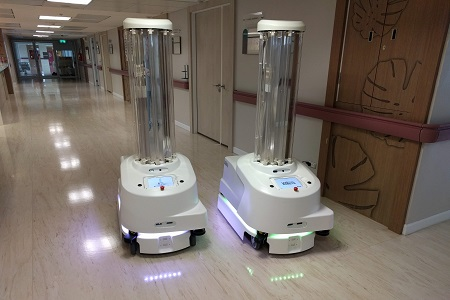 Innovative Fully Autonomous Mobile Robot for UV-C Disinfection