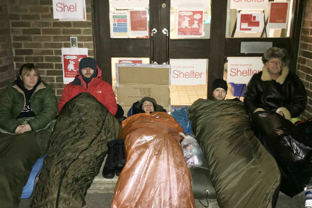 SWASFT staff sleep rough for charity