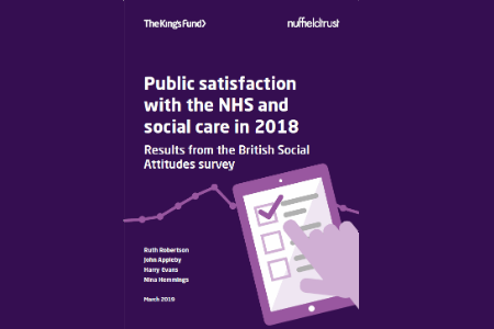 British public's satisfaction with the NHS at lowest level in over a decade