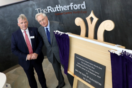 HRH The Duke of Gloucester opens Rutherford Cancer Centre North East